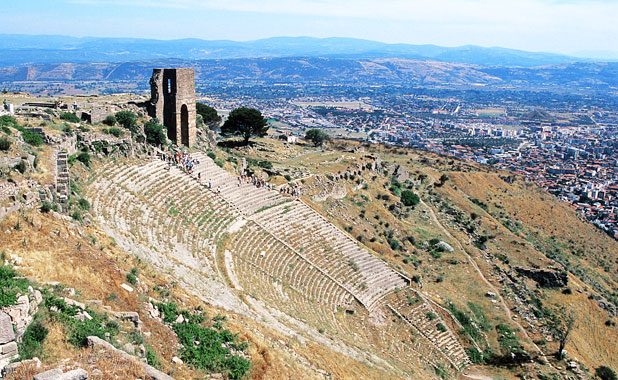 Sweeping views from the ancient acropolis of Pergamon